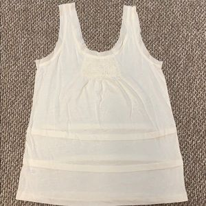 Ann Taylor LOFT Cream Tank Top